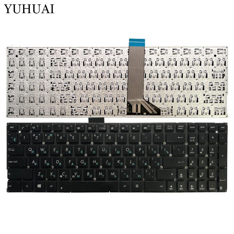 Russian Laptop Keyboard For ASUS X551 X551M X551MA X551MAV F550 F550V X551C X551CA RU Keyboard Black