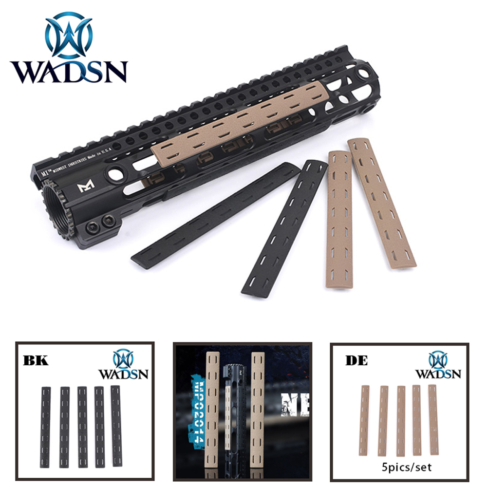 Image 1 - BCM M Lok Rail Panel Kit (5 pcs) WADSN Tactical Airsoft M LOK Polymer Handguard Picatinny rail Cover Set (5pcs) MP0214-in Weapon Lights from Sports & Entertainment