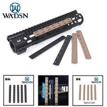 BCM M Lok Schiene Panel Kit (5 pcs) WADSN Taktische Airsoft M LOK Polymer Handschutz Picatinny schiene Abdeckung Set (5 pcs) MP0214