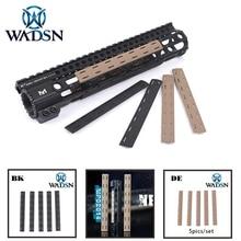 Kit de Panel de riel M LOK (5 uds.) WADSN Tactical Airsoft M LOK protector de mano de polímero, juego de cubierta de riel Picatinny (5 uds.) MP0214