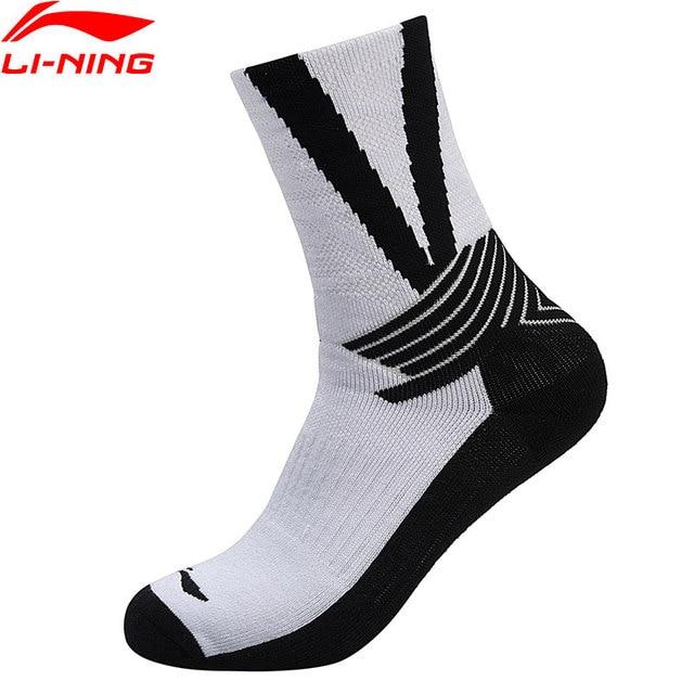 Li-Ning Men Basketball Series Socks Breathable  91.2% Cotton 8.8% Spandex LiNing Sports Socks AWLN021 NWM388