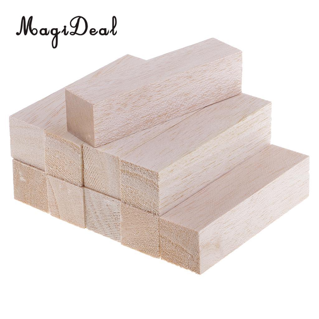 5/10pcs 50mm / 120mm Long Unfinished Balsa Wood Blocks Wooden Stick Rod for  Woodcrafts Woodworking DIY Model Craft Materials