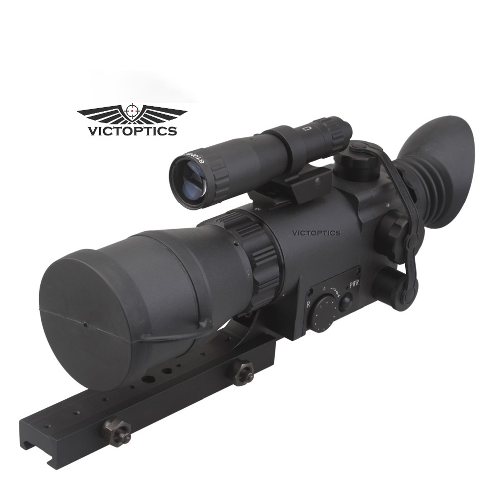 VictOptics 2.5x50 Monocular Night Vision Scope Riflescope for Hunting Night Shooting With 9 Levels illumination