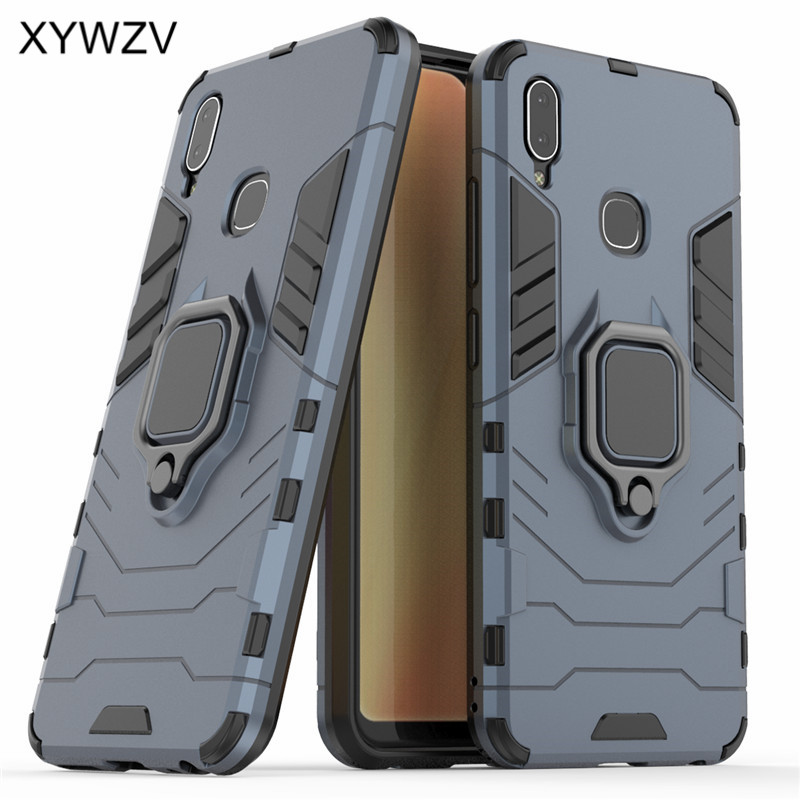 Image 2 - Vivo Y91 Case Shockproof Cover Hard PC Armor Metal Finger Ring Holder Phone Case For Vivo Y91 Protection Back Cover For Vivo Y91-in Fitted Cases from Cellphones & Telecommunications