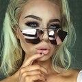 Novo 2016 Senhoras Espelho Olho de Gato Óculos De Sol Mulheres CRÔMICO Ponto Mulher Óculos de Sol Oculos Gafas UV400