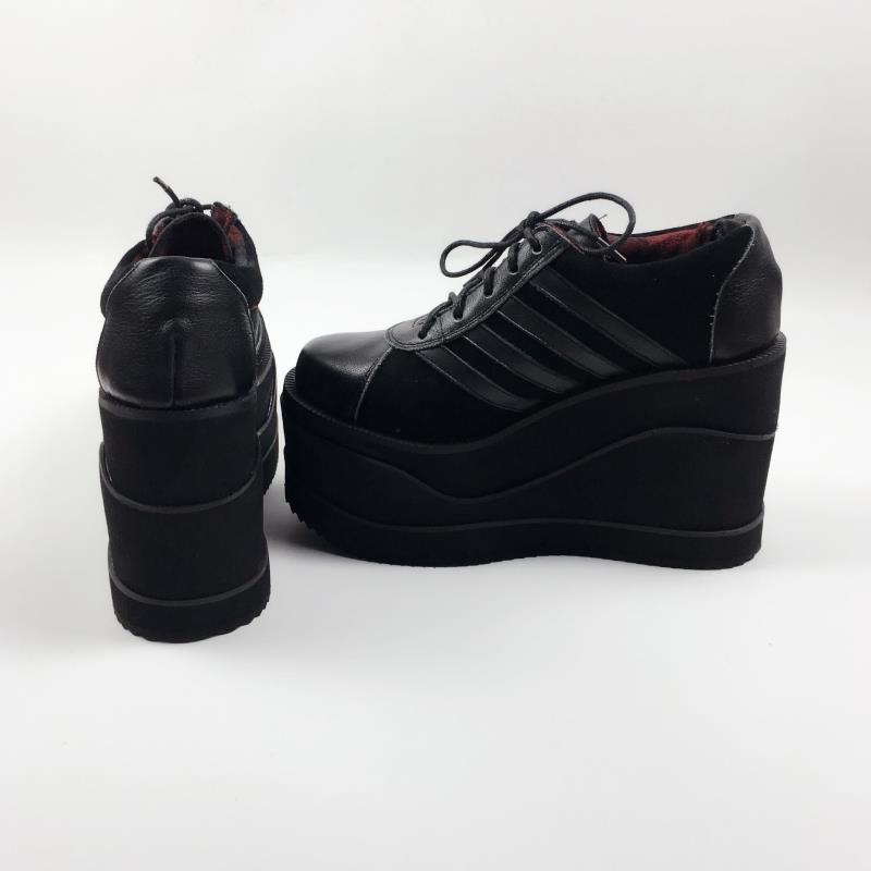 Princess sweet lolita shoes Spring pure hand-made leather sponge cake thick sole shoes women's casual shoes are not tired an7574 lin king fashion women casual shoes round toe thick sole ankle strap lolita shoes sweet buckle bowtie solid lady outdoor shoes