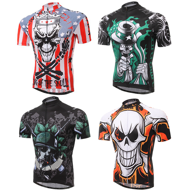 XINTOWN Summer Cycling Jersey Men Skull Pirate Ropa Bicycle Jersey Shirt  Tops Mtb Ciclismo Quick Dry bike Clothing Jersey e9988eda2