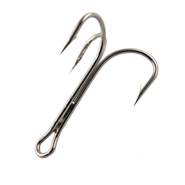 10pcs 3551 High Carbon Steel Treble Fishing Hooks Saltwater Sharp Big O'Shaughnessy Triple Bait Fishhooks Size 6/0 7/0 8/0 10/0