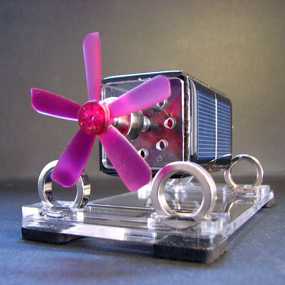 solar toy Mendocino Motor magnetic suspension with Violet Propeller scientific Physics toy