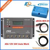 PWM EPEVER 12V 24V 45A VS4524BN Solar power bank regulator wifi BOX and USB cable Temp sensor EPSolar Original Product