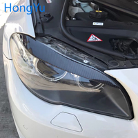 For BMW 5 Series F10 F18 523 525I 520LI Carbon Fiber Head Light Eyebrow Trim Cober Dyelid Decoration Accessories