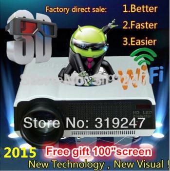 5500 lumen Android4.4 HD FÜHRTE Wifi Smart Projektor 230 Watt 3D heimkino LCD Video Projektor TV Beamer mit Bluetooth 4,0