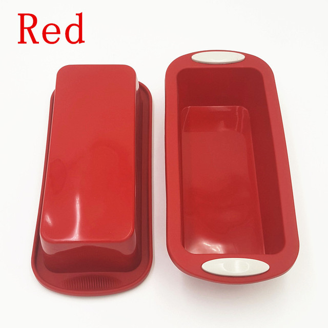 28*12.5*6.5cm 160G Big and Beautiful Square Quadrate Shape Double Color Silicone Cake Mold DIY Baking and Pastry Tools