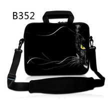 "Black Half Face Cat 12″ 13″ 14″ 15″ 17″ 17.three"" 17.four"" Pocket book Laptop computer Sleeve Deal with Bag Carrying Case for HP Shoulder Bag"
