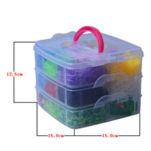 5000 unids new DIY rubber band  bracelets Small 3 layer Gift Box Set Puzzle weaving machines