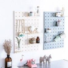 Креативная настенная стойка для хранения с отверстиями, для гостиной, для кухни на присоске, настенные органайзеры, держатели для дома, съемная стойка для хранения декора «сделай сам»