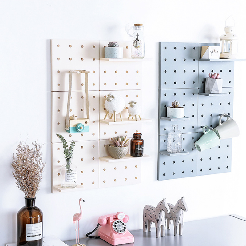 Us 8 24 45 Off Creative Hole Plate Wall Storage Rack Living Room Kitchen Suction Organizers Holders Home Detachable Diy Decor In