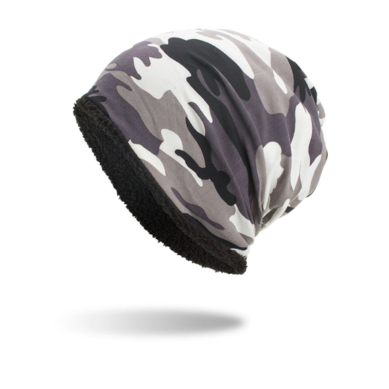F&U Fashion Unisex Camouflage Hats Cotton And Polyester Casual Warm For Male Female In Winter 4 Colors Available