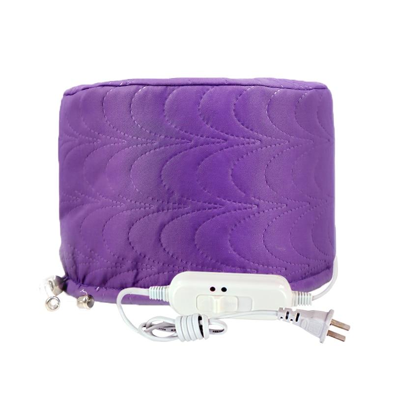 Hot Selling Electric Heating Cap Dye Hair Cap For Hair Coloring Constant Dual Temperature Bonnet Hair Care Evaporation Purple