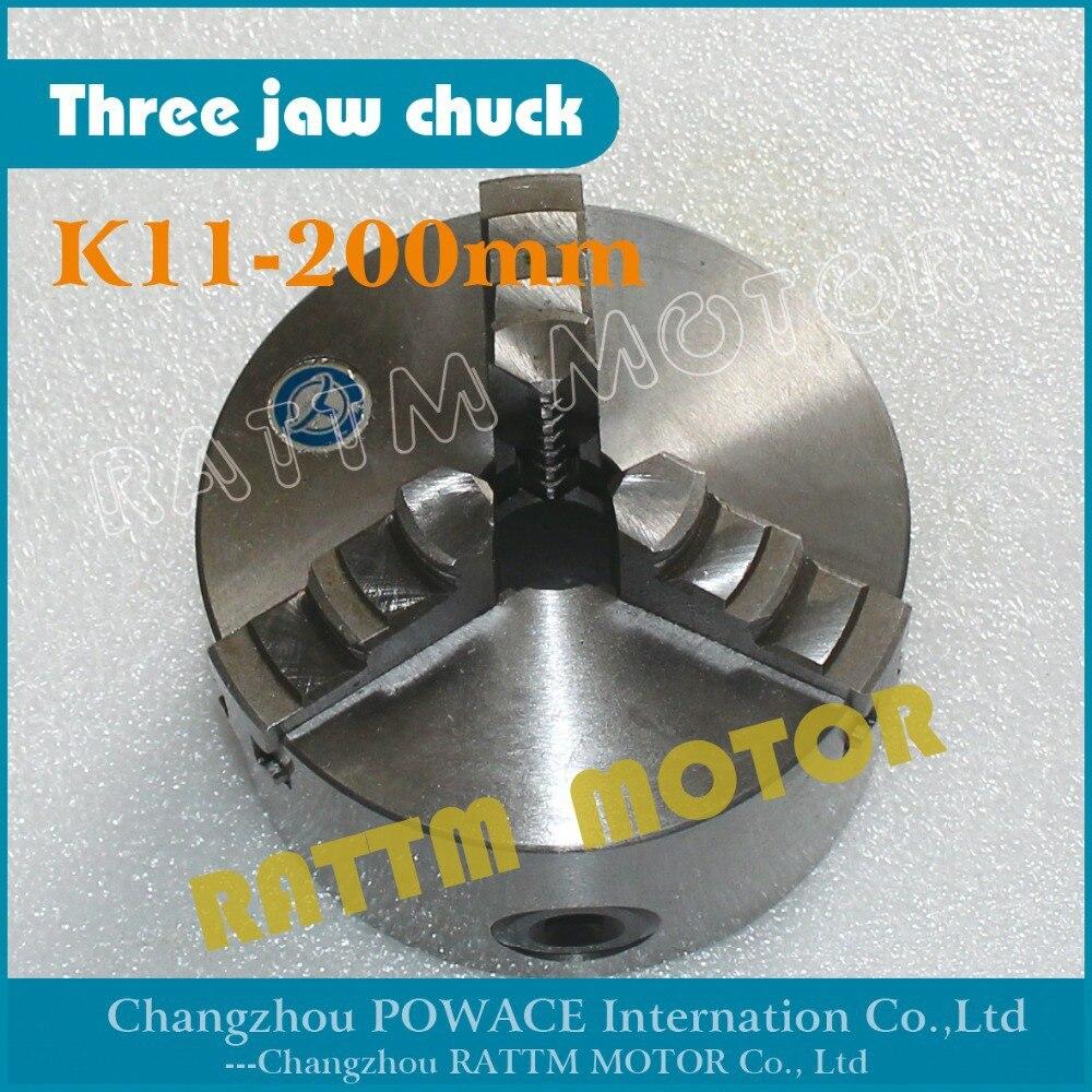 Manual chuck Three 3 jaw self-centering chuck K11-200mm 3 jaw chuck Machine tool Lathe chuck цена