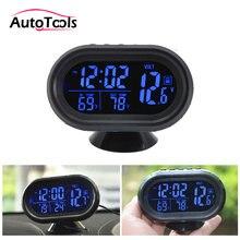 ed465872b27 20 pçs lote DHL LIVRE 4 em 1 Digital Car Termômetro relógio Voltímetro  Voltage Meter Monitor Tester Temperatura Relógio Noctiluc.