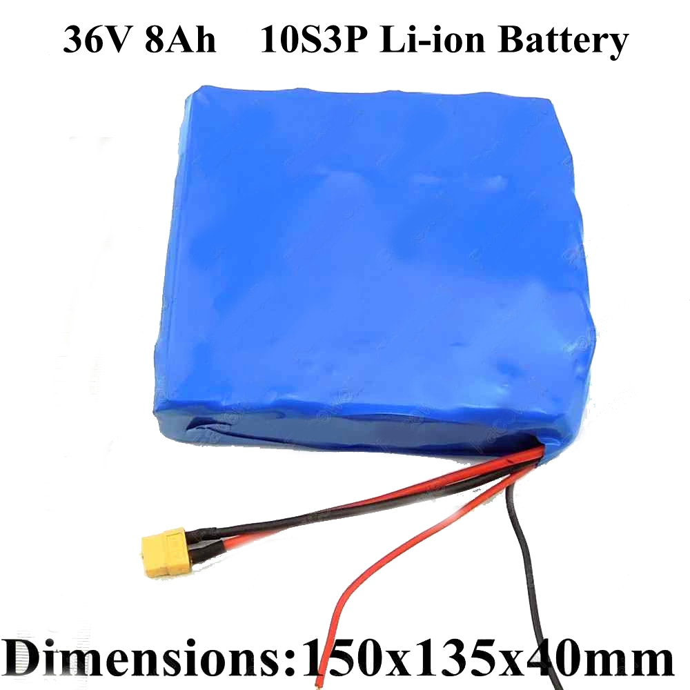 Lithium Battery Pack >> Us 179 0 Lithium Battery 36v 8ah 10s3p 18650 Li Ion Battery Pack 36v For Electric Skateboard 36v Electric Scooter Unicycle Battery In Battery Packs