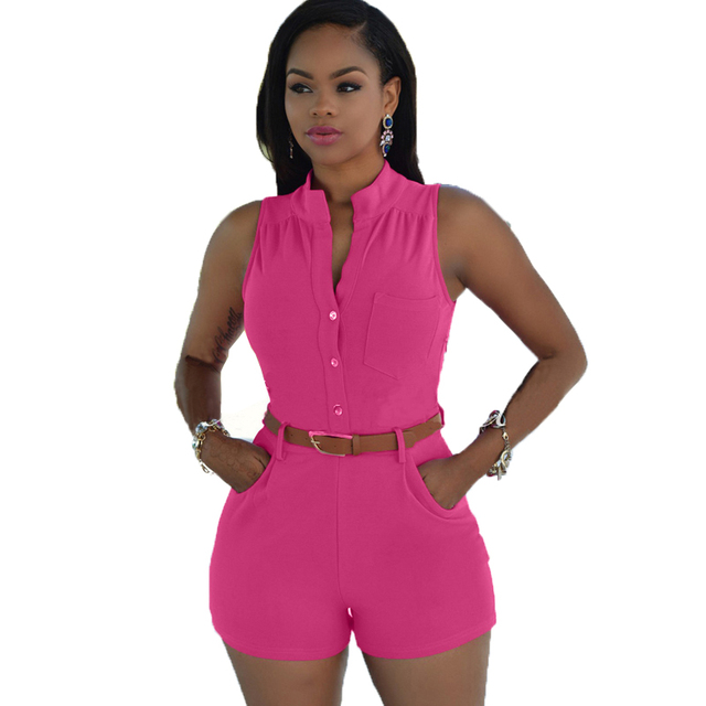 56c5095874c0 New 2016 Women Summer Clothing Plus Size Jumpsuits and Rompers Sexy Tops  and Shorts One piece