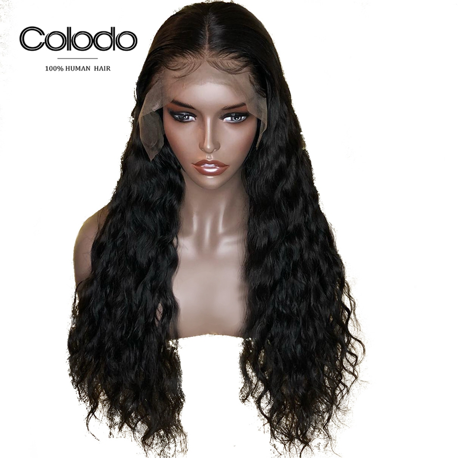 Colodo Long Water Wave Wig Brazilian Remy Hair Glueless For Black Women Full Lace Human Hair