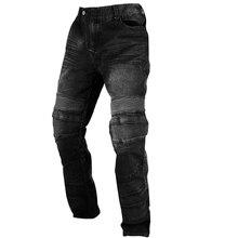 Duhan мотоциклетные защитные джинсы мужские мотоциклетные гоночные повседневные брюки мужские мотокроссные внедорожные наколенники защитные мото джинсовые брюки