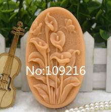 New Product!!1pcs Spathiphyllum  Kochii(zx318) Food Grade Silicone Handmade Soap Mold Crafts DIY Mould