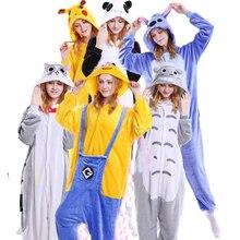 1b3d2fad14ec49 Kawaii Koala kigurumi Pokemon Pikachu Onesies dla dorosłych Totoro Cat  jeden kawałek piżamy ze zwierzętami z