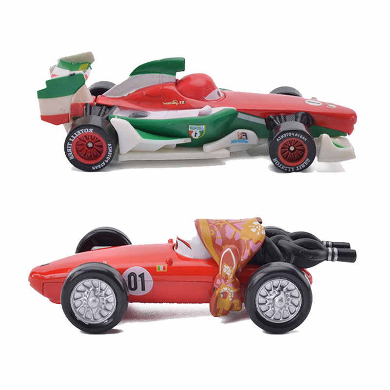 Semua Gaya Disney Pixar Mobil 2 3 Francesco Bernoulli Truk Mack dan F1 Ibu Logam Diecast 1:55 Paduan Mobil Mainan untuk Anak Laki-laki Hadiah