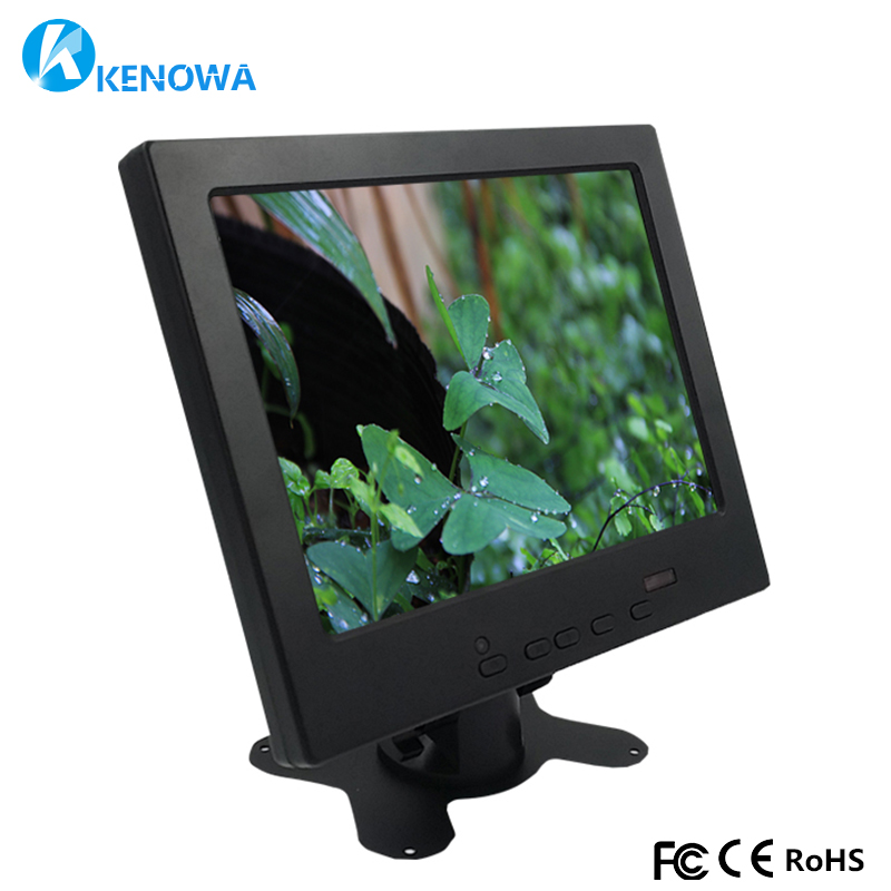 8 Inch 4:3 Small LCD Color Video Monitor Screen 1024x768 VGA BNC AV HDMI Ypbpr Input for PC CCTV Home Security 8 inch tft lcd color video monitor screen vga bnc av input with remote controller for pc cctv home security stand