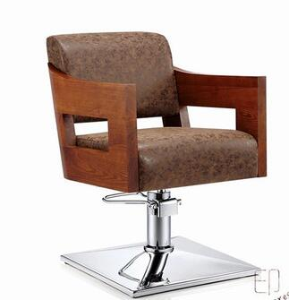 Solid Wood Barber Chair Barber Chair Chair Lift And Cut Hair Chair Hairdresser Chair.
