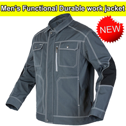 Bauskydd veste de travail multi-poches homme   Vêtements de travail de haute qualité, durable et de construction mécanique, gris foncé, livraison gratuite