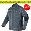 High quality durable Mens multi pocket dark grey  work  jacket workwear mechanic construction Jacket men  free shipping
