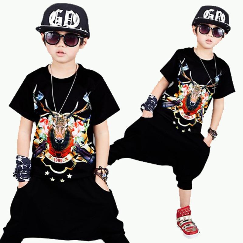 Otroški fantje Ulična oblačila Poletni slog Otroški tisk Kratke - Otroška oblačila
