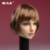 1 6 Female Head Sculpt Short Hair European Beauty Head Carving Model