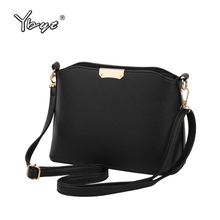 YBYT brand 2017 new simple casual women satchel hot sale lady high quality shopping shell bag shoulder messenger crossbody bags