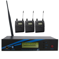Professional Stage Wireless In Ear Monitor System 1 Transmitter 3 Receiver Musical Instruments Pro Audio Dj