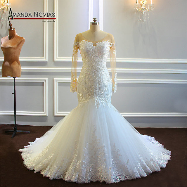 robe mariage Mermaid Wedding Dress Amanda Novias Real Work Photo 2019 Bride