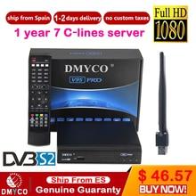 1 Year Channels Europe V9S Pro DVB-S2 Satellite Receiver Decoder Support 1080P Full HD DVB S2 Turner Receptor M9S
