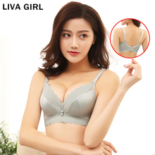 LIVA GIRL Women Underwear Widened Side-Receiving Breast-Adjusting Bra Thickening Gathered Seamless Female Wholesale