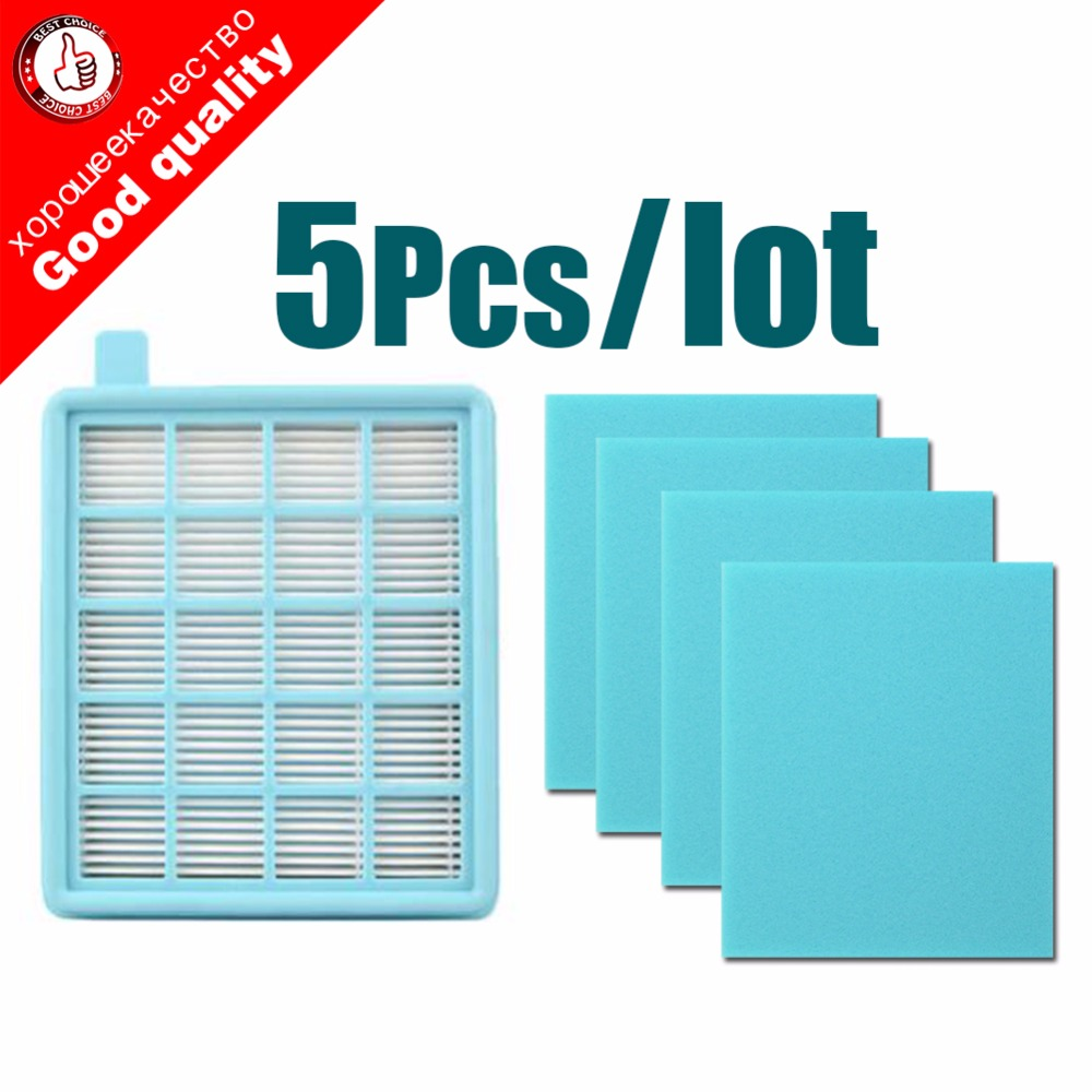 5pcs/lotFilter Mesh HEPA FILTER BUFFALO-MISTRAL For Philips Vacuum Cleaner FC8470 FC8471 FC8472 FC8473 FC8474 FC8476 FC8477