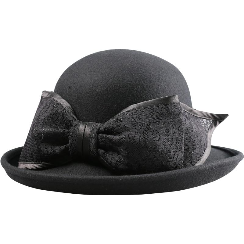 Autumn shallow Fate Women Summer Hat Classic Black Girdle Panama Jazz Hat Beach Hats