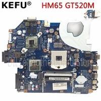 KEFU P5WE0 LA-6901P moederbord voor acer 5750 5750G 5755 laptop moederbord HM65 GT520M originele Test moederbord
