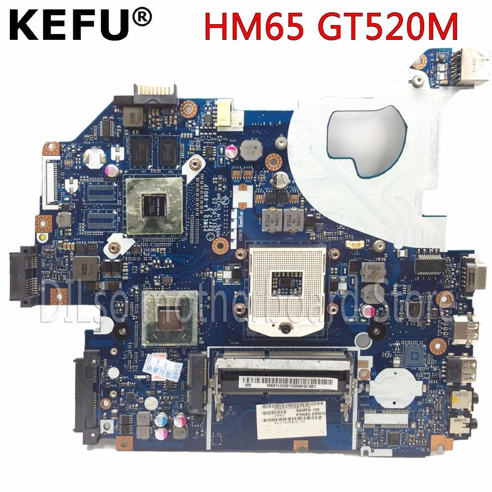 KEFU P5WE0 LA-6901P Motherboard For Acer 5750 5750G 5755 Laptop Motherboard HM65 GT520M Original Test Motherboard
