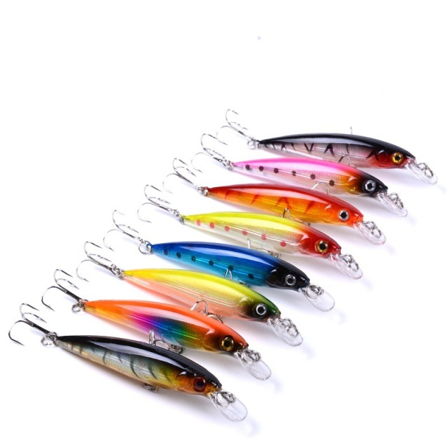 Top Durable Minnow Hard Fishing Bait 43pcs Pack