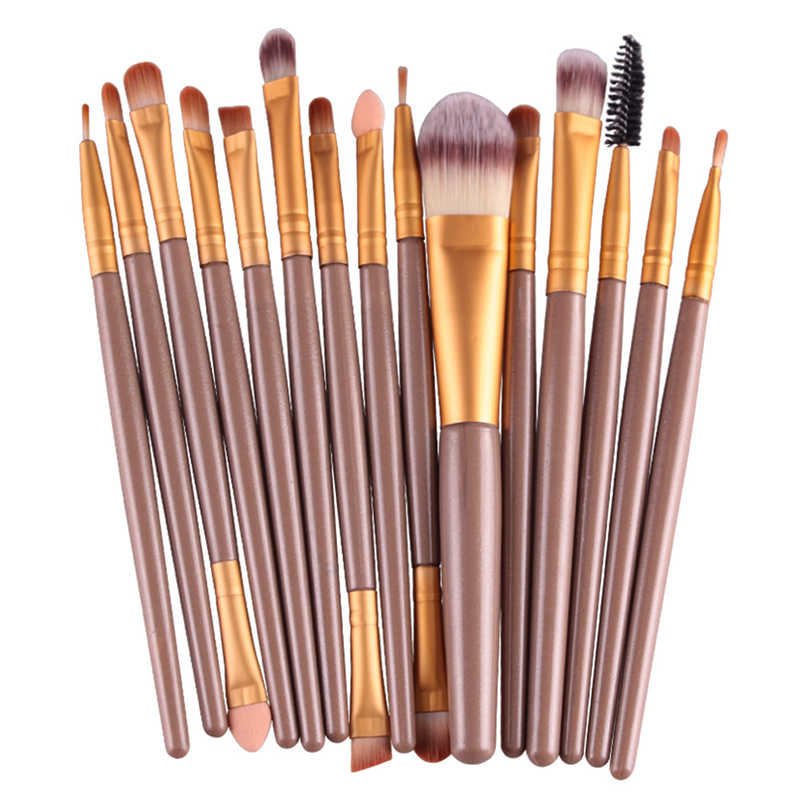 15 Pcs/Set of makeup brushes make up brushes Eye Shadow Foundation Eyebrow Lip Brush tool pincel maquiagem кисти для макияжа