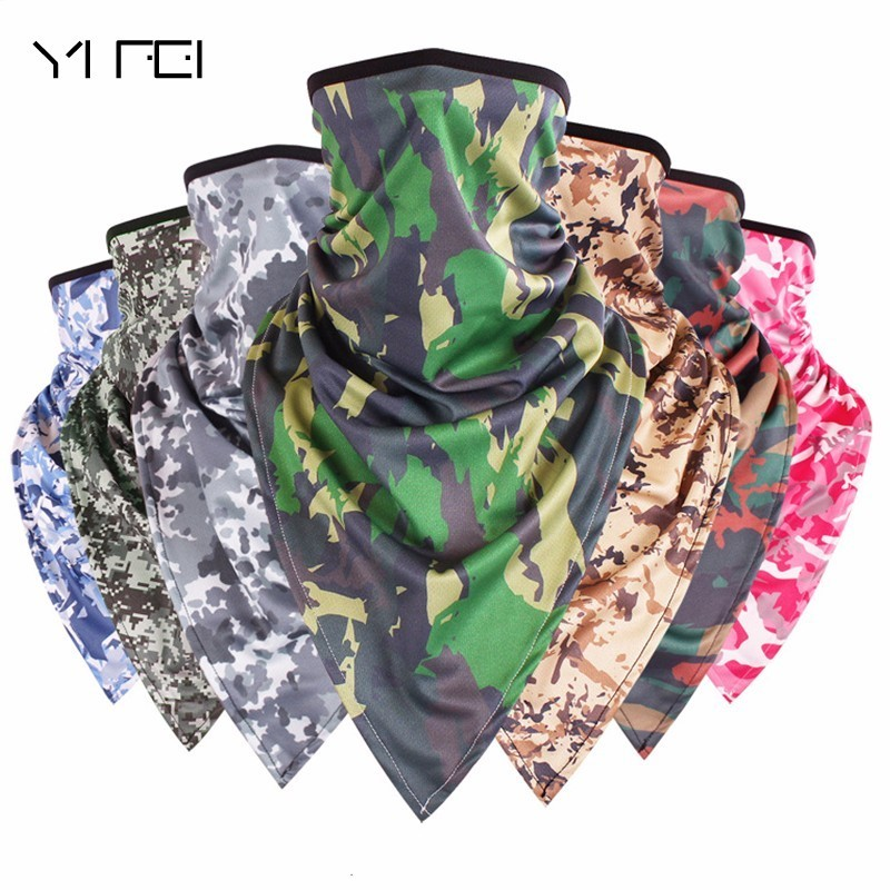 Military Camo Beanie Cycling Windproof  Mask  Warm Ski Caps Outdoor Sports Climbing Sunscreen Sweatproof protective outdoor war game military skull half face shield mask black